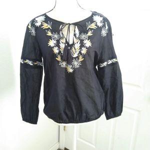 Tory Burch navy blue blouse size 4